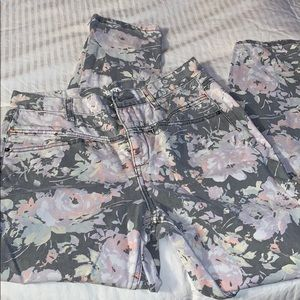 BDG high waisted floral pants
